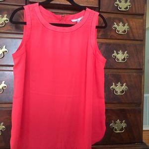 Valerie Stevens Orange Sleeveless Top Size Large